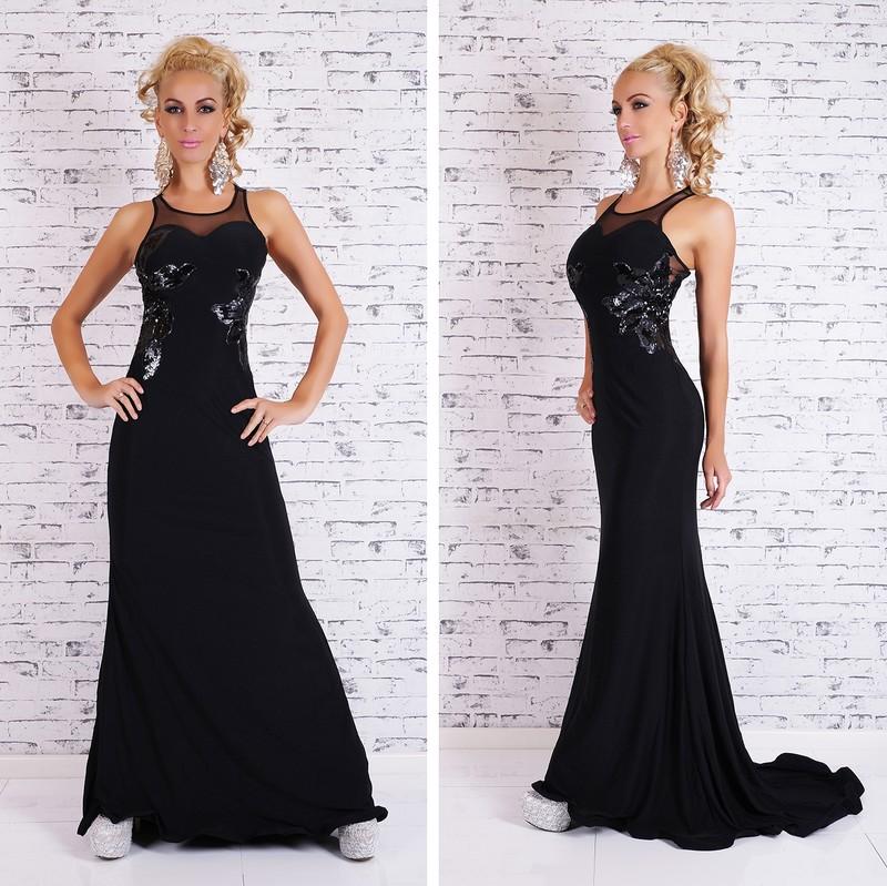 Černé plesové šaty dlouhé - EU - Večerní šaty a koktejlové šaty - i ... ad1949b350