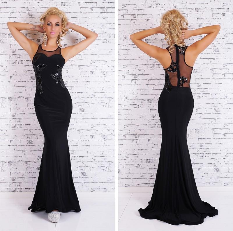 Černé plesové šaty dlouhé - EU - Večerní šaty a koktejlové šaty - i ... de16f27ffd
