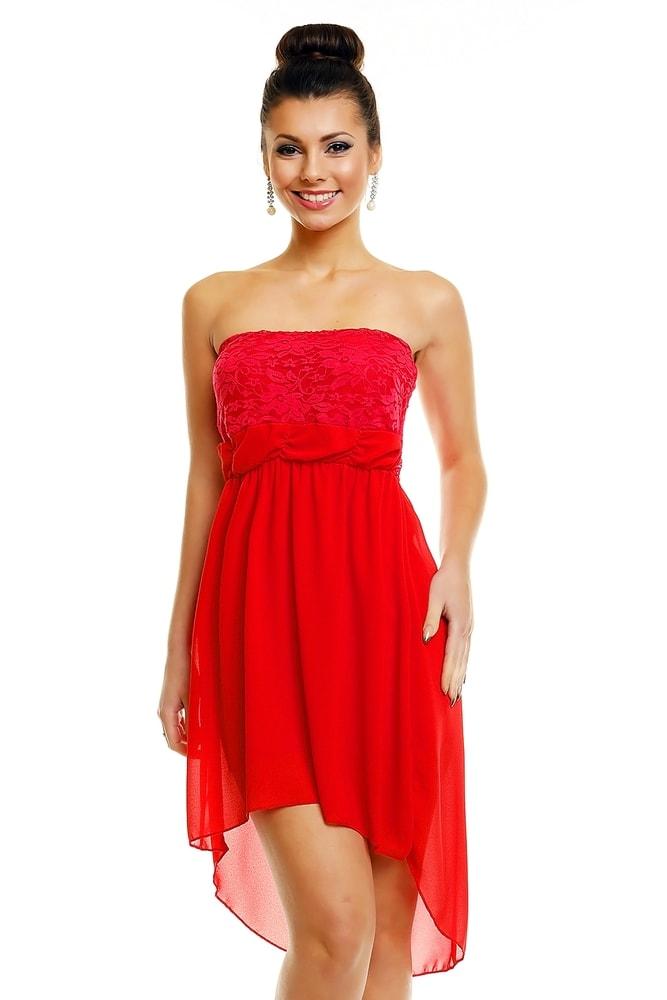 Červené spoločenské šaty - EU - Krátke plesové šaty - vasa-moda.sk 24e76a71722