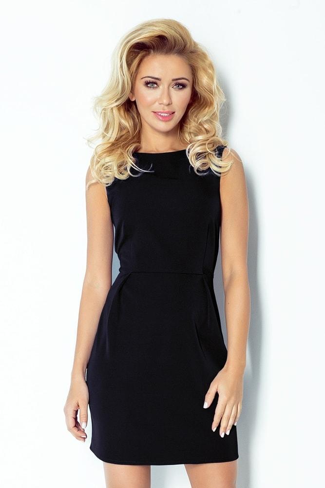 Čierne dámske šaty 103-3 - M Numoco nm-sat103bl