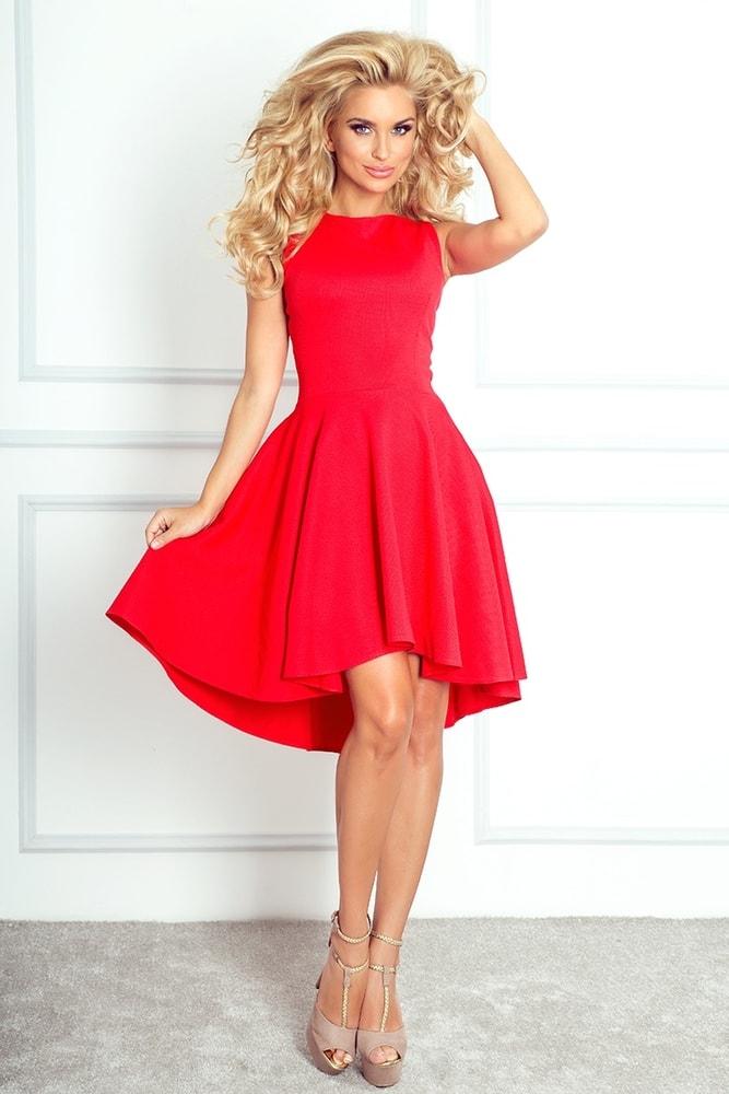Červené asymetrické šaty 66-12 - Numoco - Večerní šaty a koktejlové ... c18ff9e45d