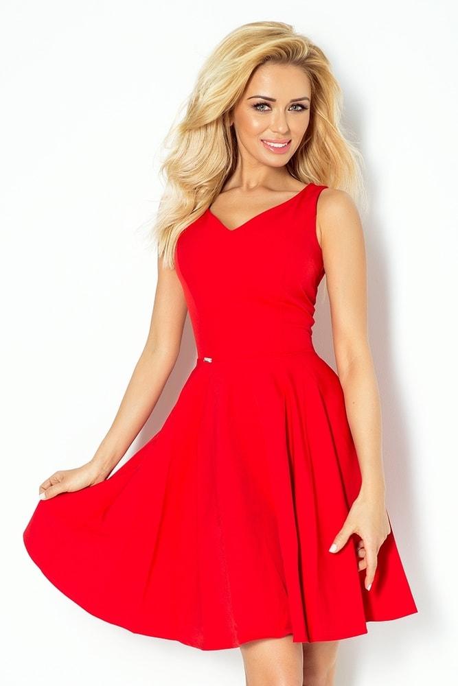 e9a4b959460 Červené dámské šaty 114-3 - Numoco - Večerní šaty a koktejlové šaty ...