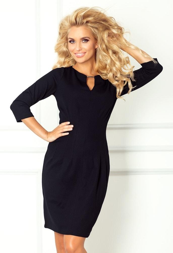 Dámske čierne elegantné šaty 68-3 - Numoco - Business šaty - vasa ... d68d98c5938