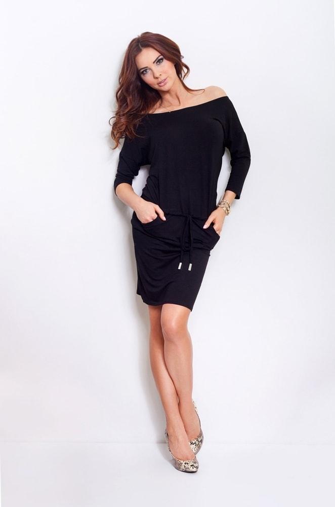 Sportovní šaty černé 13-1A - Numoco - Denní šaty - i-moda.cz 5baa0b9ed8