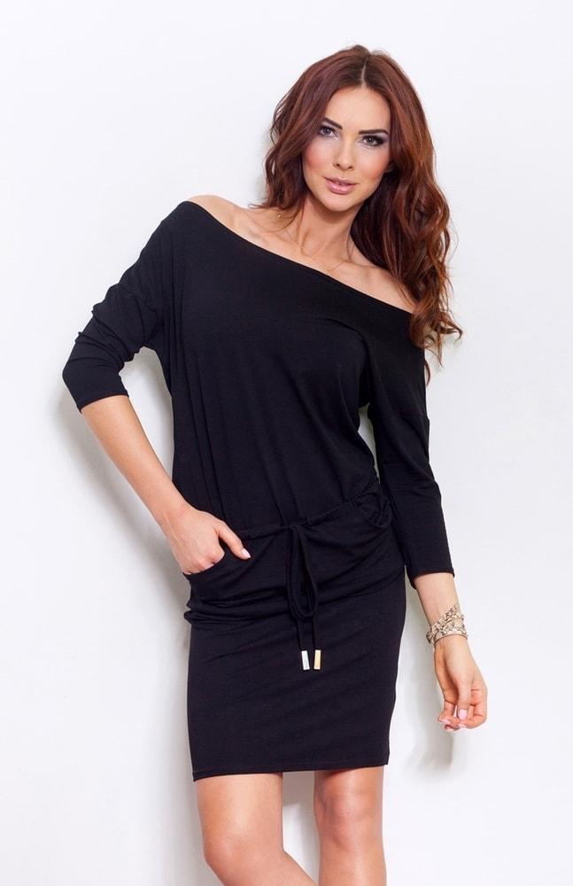 Športové šaty čierne 13-1A - Numoco - Šaty pre voľný čas - vasa-moda.sk 4bf6524222c