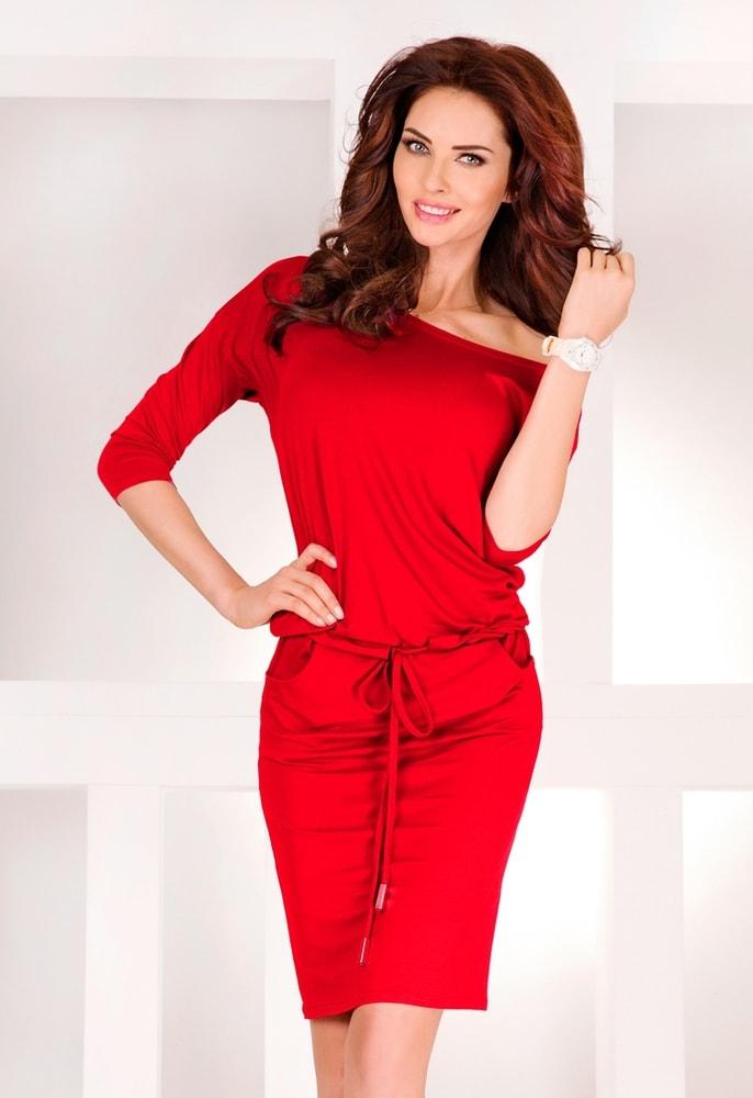 Červené dámske šaty 13-17 - XXL Numoco nm-sat13-17