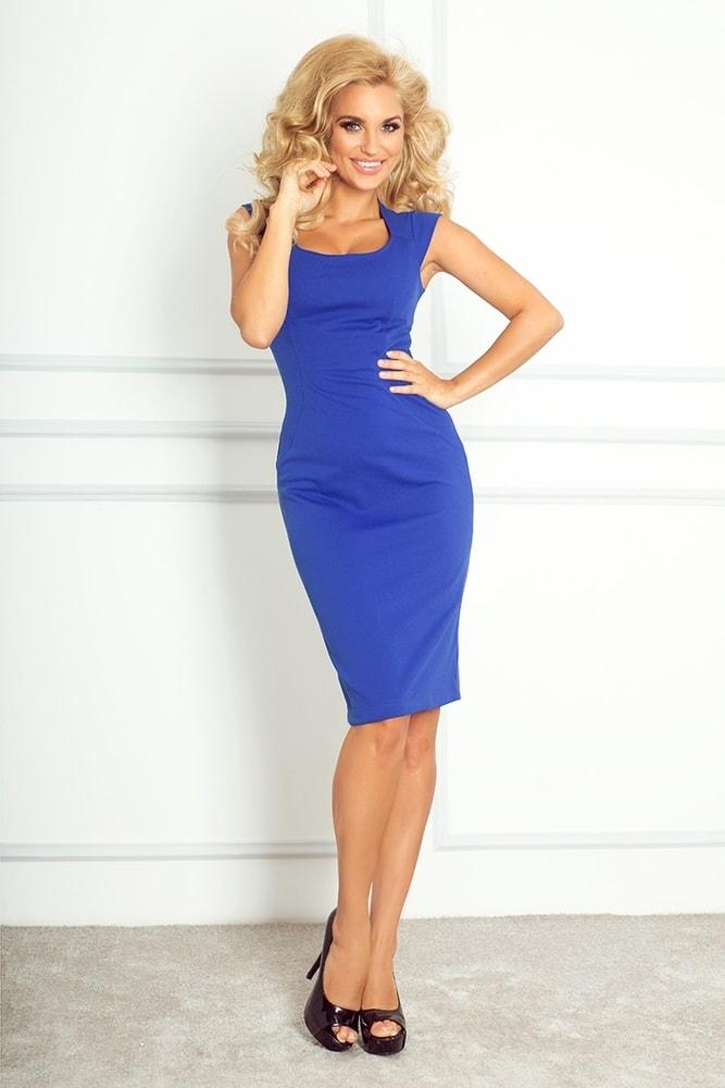 Modré elegantné šaty 53-10A - Numoco - Business šaty - vasa-moda.sk 96bfbc8ee43