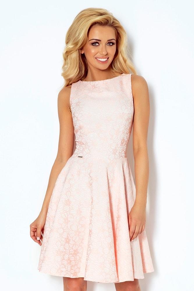 Světle růžové dámské šaty 98-5 - Numoco - Večerní šaty a koktejlové ... 671d4689c3