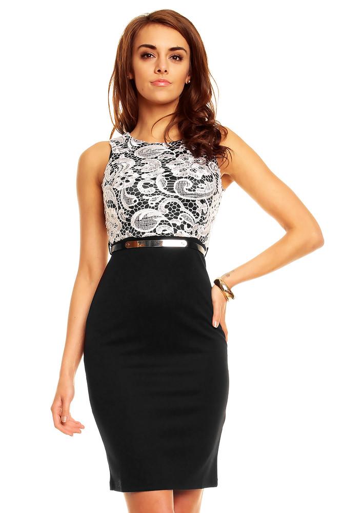 db1df5c033e Černé pouzdrové šaty - Emamoda - Večerní šaty a koktejlové šaty - i ...