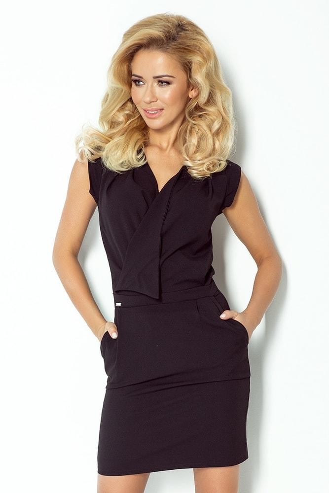 Čierne elegantné šaty 94-4 - Numoco - Šaty pre voľný čas - vasa ... 3b040e6aeb7
