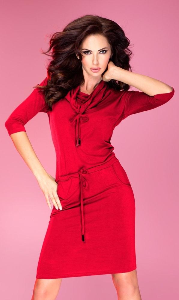 Červené dámske šaty 44-13 - Numoco - Šaty pre voľný čas - vasa-moda.sk 4f8b1cf443