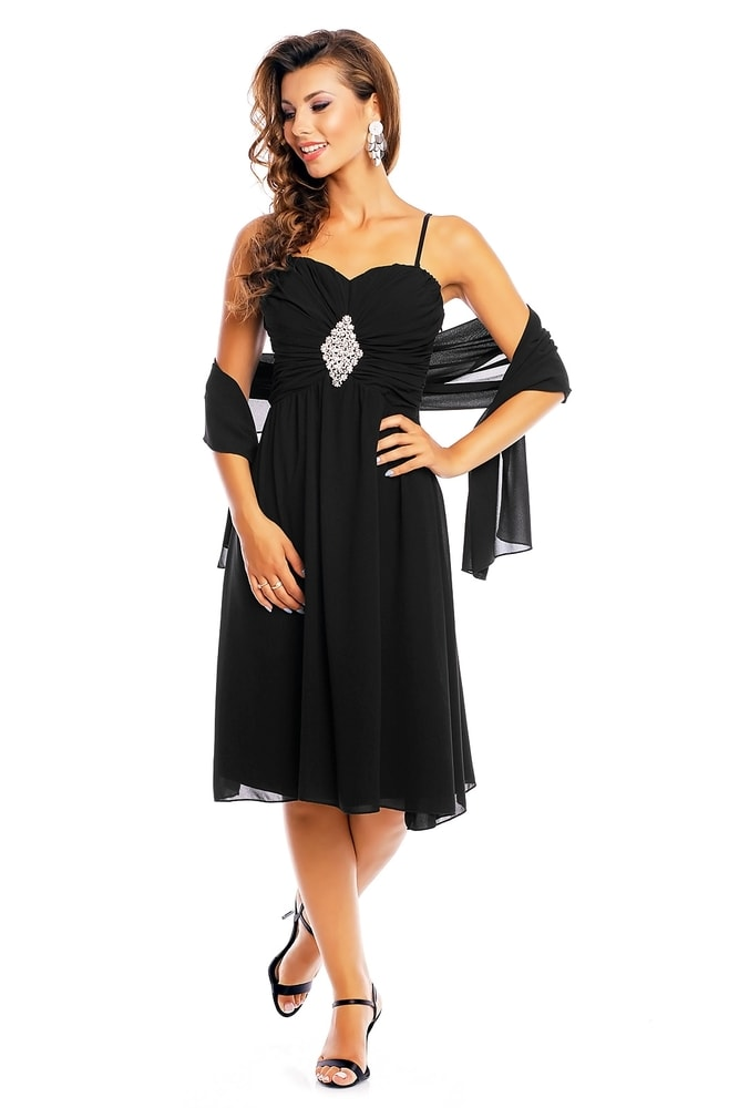 Spoločenské šaty na ramienka - EU - Krátke plesové šaty - vasa-moda.sk c861bb14bce