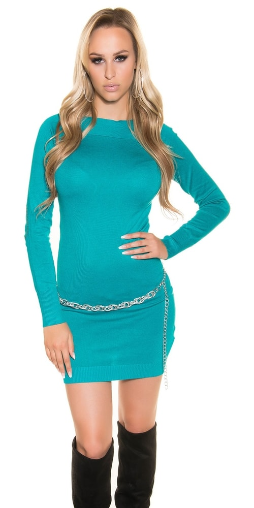 Úpletové dámske mini šaty - Uni Koucla in-sv1087sa