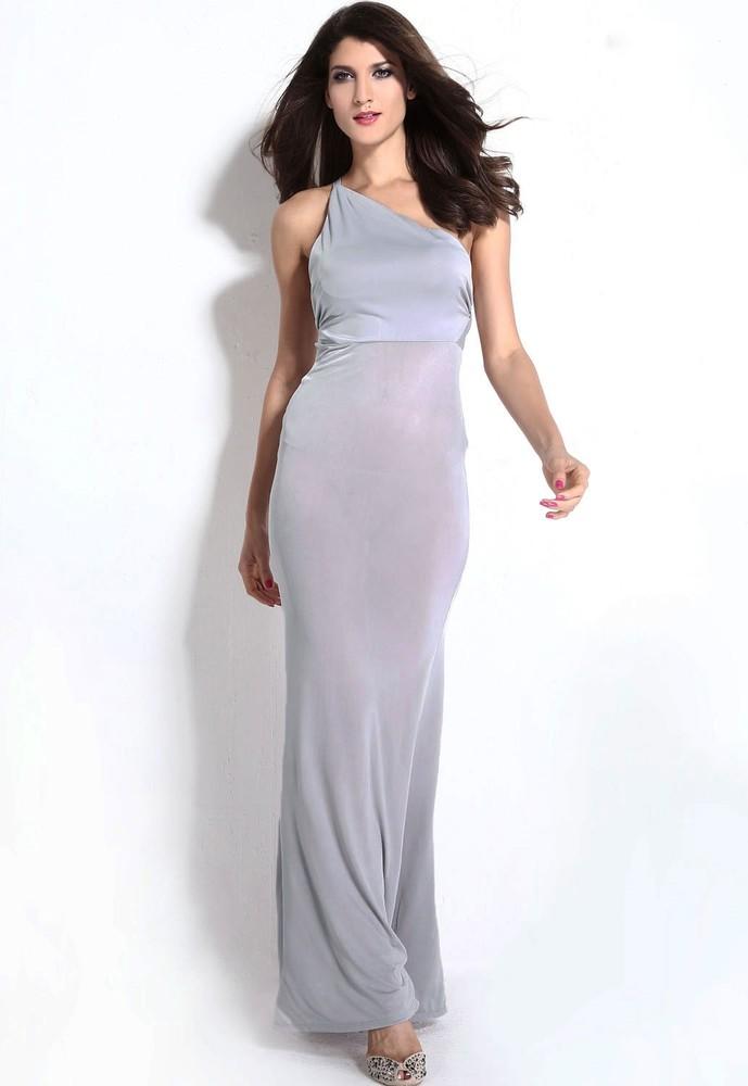 74ba2106bba Dlouhé večerní šaty - šedé - DAMSON - Dlouhé společenské šaty - i ...