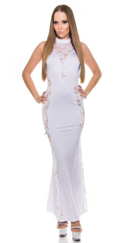 Biele dlhé šaty - Koucla - Dlhé spoločenské šaty - vasa-moda.sk e80266b4597
