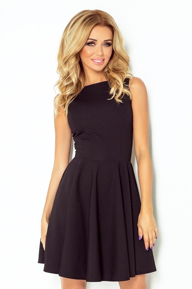 Černé dámské šaty 125-5 - S Numoco nm-sat125bl