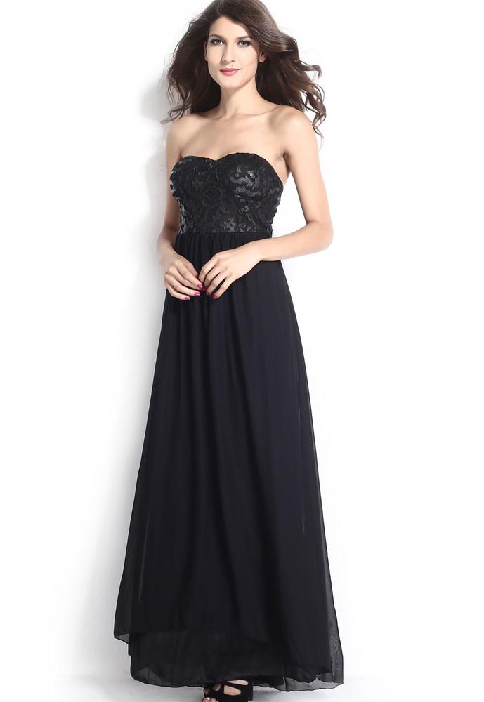 Dlouhé společenské šaty černé - DAMSON - Dlouhé plesové šaty - i ... 87c863488d