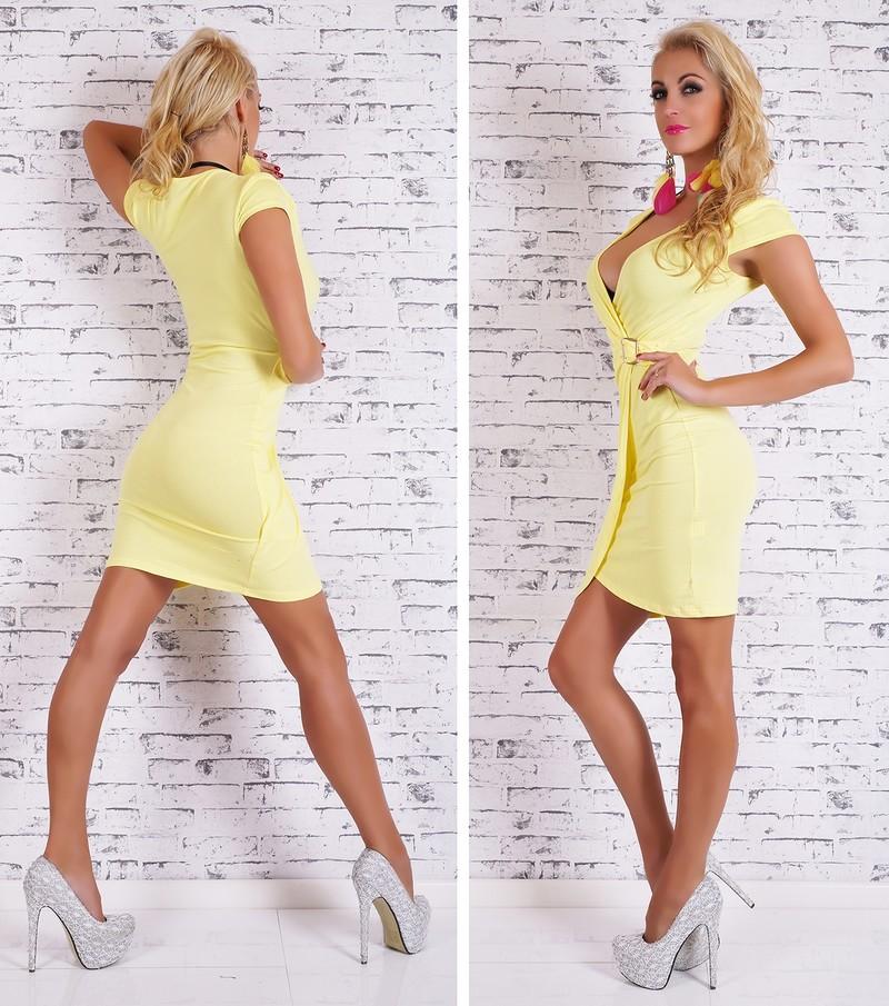 Dámske letné šaty žlté - Giorgia - Úpletové šaty - vasa-moda.sk 59e2d436444