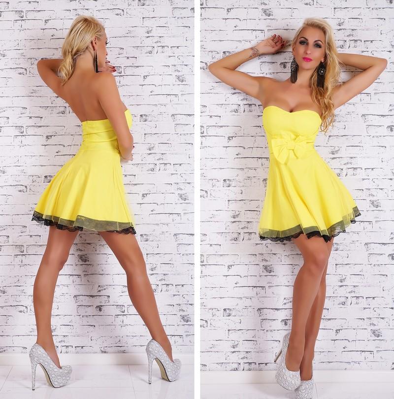 Krátke letné šaty žlté - EU - Večerné šaty a koktejlové šaty - vasa ... 02502b12f6