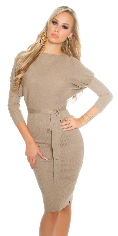 Elegantné pletené šaty - Koucla - Úpletové šaty - vasa-moda.sk ceb5b26f656