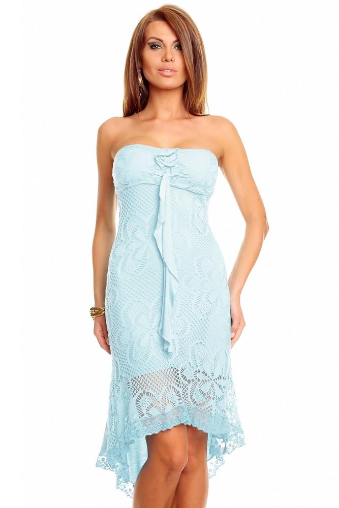 Letné šaty modré - Best Emilie - Krátke letné šaty - vasa-moda.sk 93a842dbf34