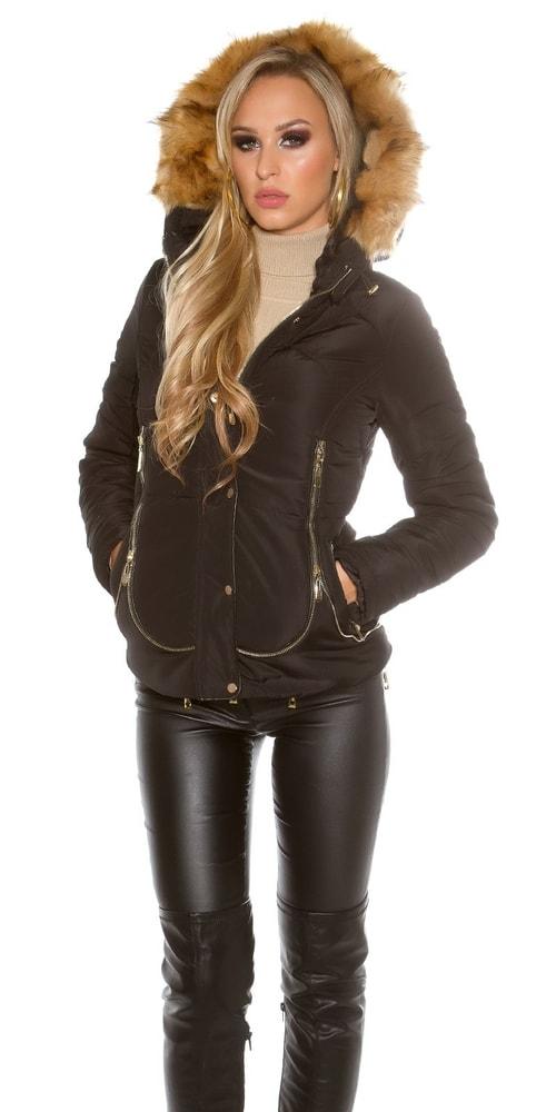 Čierna zimná bunda Koucla in-bu1110bl