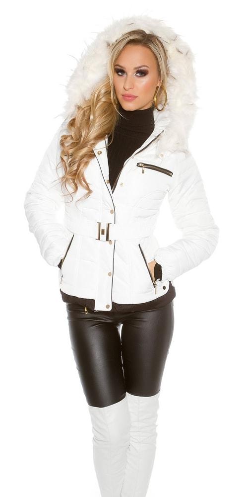 b992f12ba0b Bílá zimní bunda - Koucla - Bundy dámské zimní - i-moda.cz