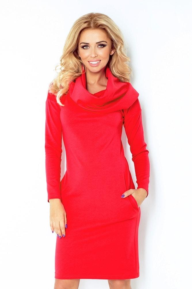 Červené šaty dámske 131-4 - XXL Numoco nm-sat131re
