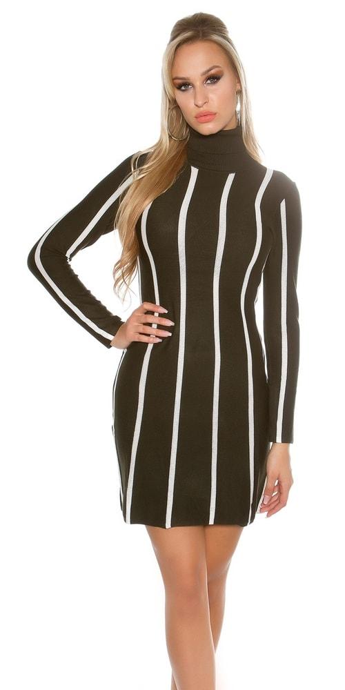 Elegantné úpletové šaty s rolákom - Koucla - Úpletové šaty - vasa ... 293af18aae2