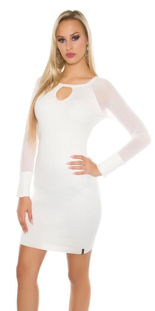 Dámske úpletové šaty Koucla in-sat1452wh 76828003e2