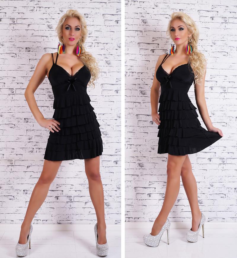 Čierne letné šaty - EU - Krátke letné šaty - vasa-moda.sk 7bda803f611