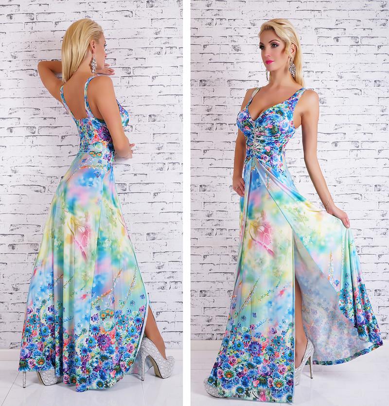Dlouhé letní šaty s květy - EU - Dlouhé letní šaty - i-moda.cz 1357fd9e182