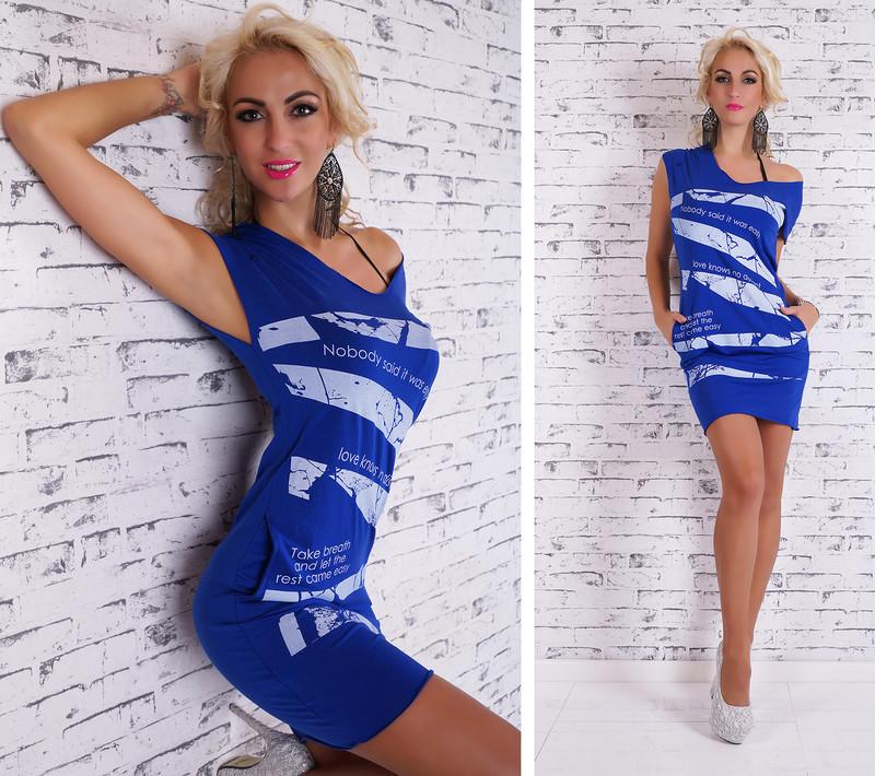 Letné šaty dámske-modré - EU - Krátke letné šaty - vasa-moda.sk 3190adc42e9