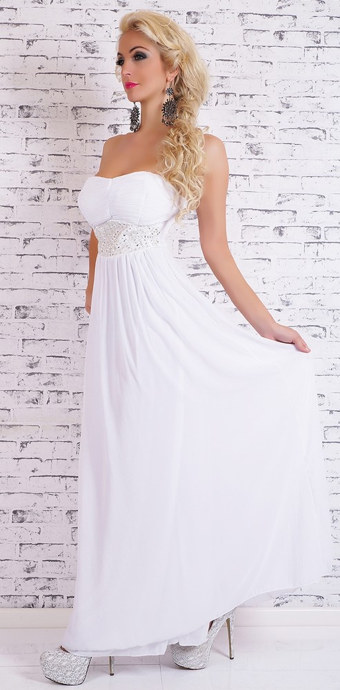 Dlhé biele večerné šaty - EU - Večerné šaty a koktejlové šaty - vasa ... 198b16768ea