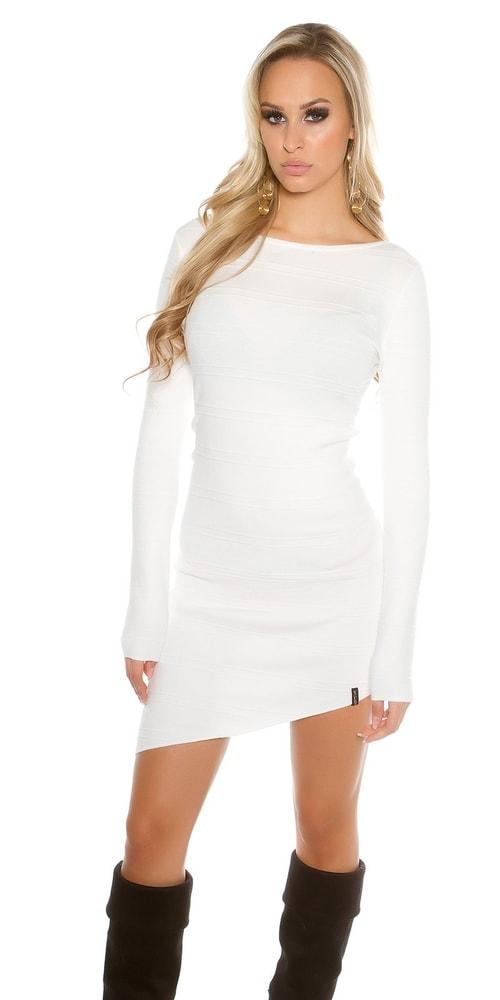 12784a6197c2 Dámske úpletové mini šaty - Uni Koucla in-sat1289wh