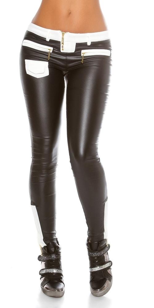 Moderné čierne dámske nohavice - L Koucla in-ka1126bl