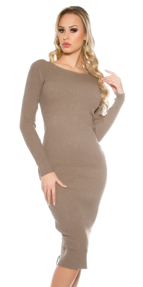 Dlhé dámske úpletové šaty - Koucla - Úpletové šaty - vasa-moda.sk dccb82c4dcf