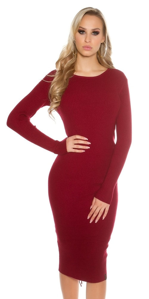 Dlhé dámske pletené šaty - Koucla - Úpletové šaty - vasa-moda.sk f854b003967