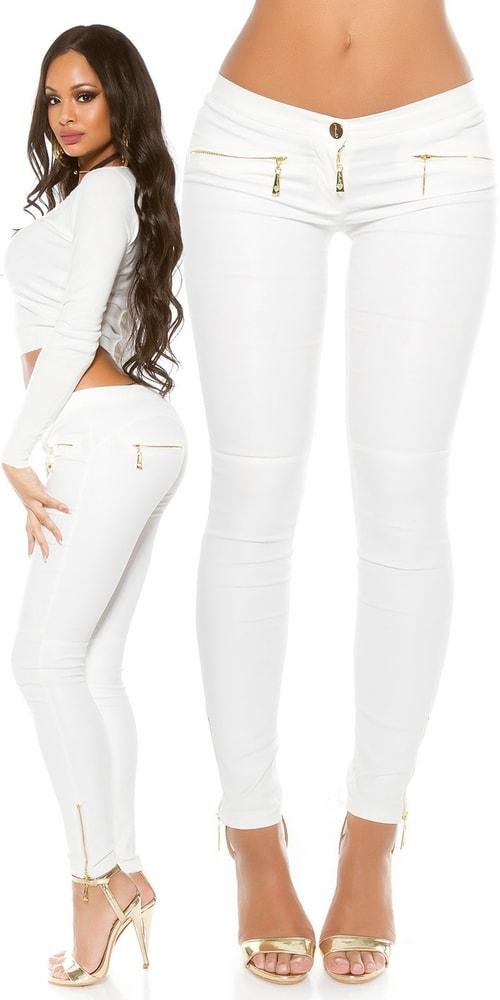 b2eab11b9220 Moderné biele nohavice - XL Koucla in-ka1128wh