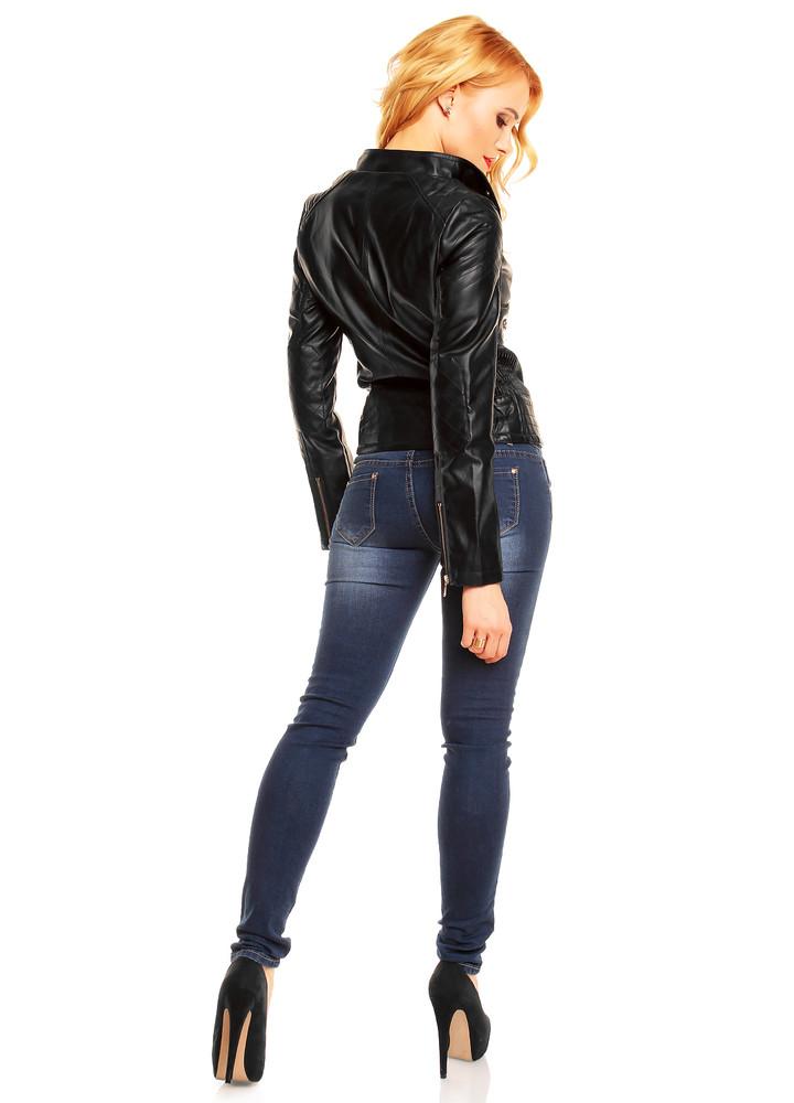 Koženková čierna dámska bunda - EU - Bundy dámske koženkové - vasa ... 801beeca49c