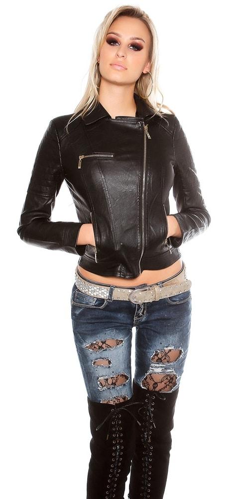 Koženková bunda dámska - Koucla - Bundy dámske koženkové - vasa-moda.sk 585ac60c32e