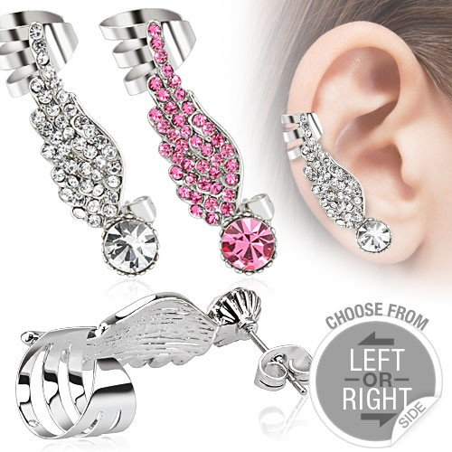 Moderné náušnice na jedno ucho - EU - Náušnice z chirurgickej ocele ... 4a93dc96d7f
