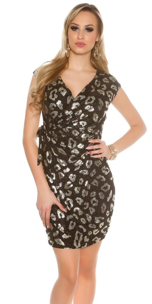 Párty šaty - zlaté - Koucla - Večerné šaty a koktejlové šaty - vasa-moda ... 224301682d