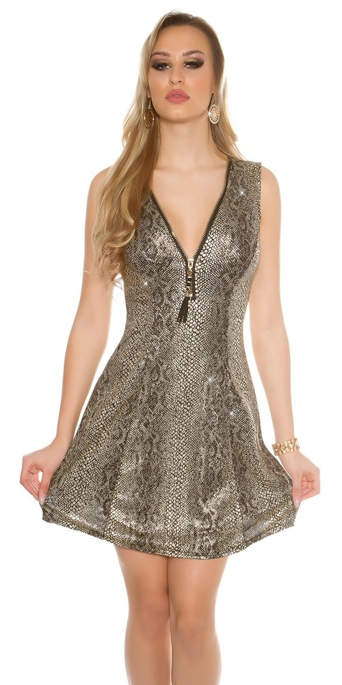 Dámske šaty - zlaté - S M Koucla in-sat1159go 1ea1ef9a2f