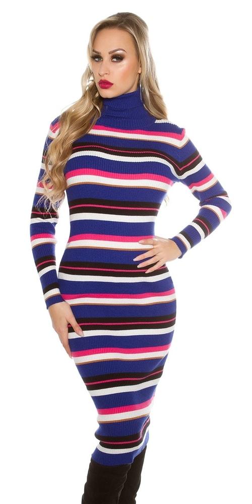 d092667f694f Pruhované úpletové šaty - Uni Koucla in-sat1428mo