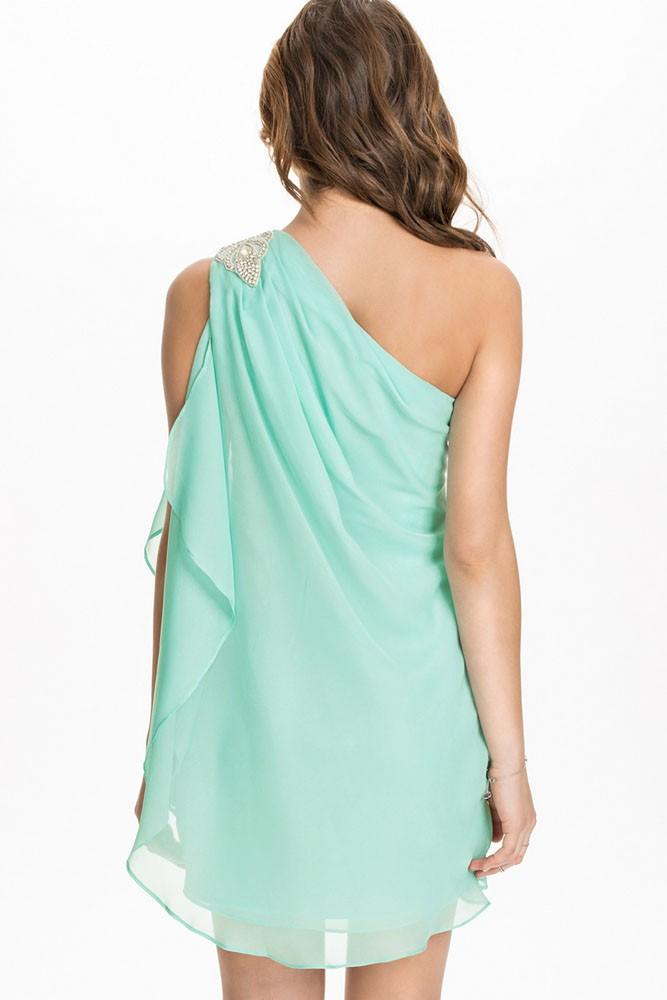 Letní šaty na jedno rameno - DAMSON - Večerní šaty a koktejlové šaty ... 8df0f4ce38