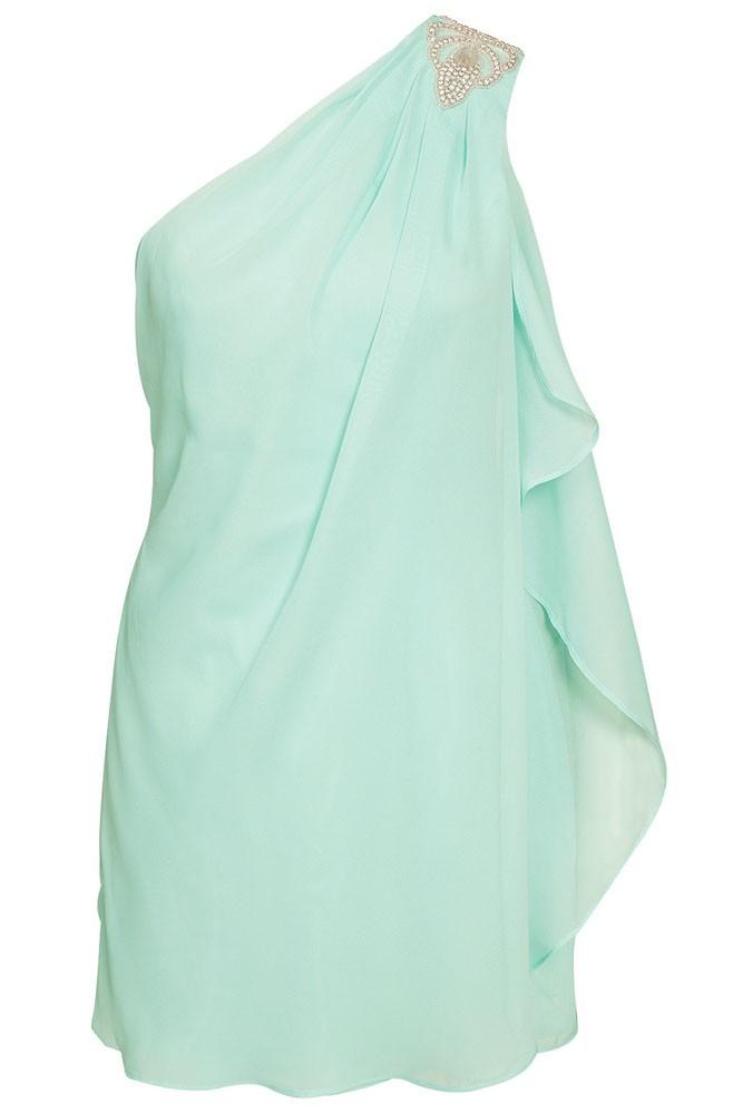 Letné šaty na jedno rameno - DAMSON - Večerné šaty a koktejlové šaty ... 95e01cb892