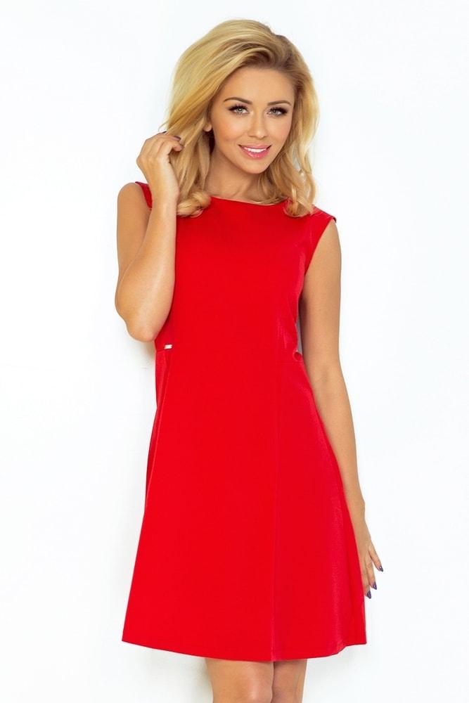 Červené dámske šaty 137-2 - XL Numoco nm-sat137re
