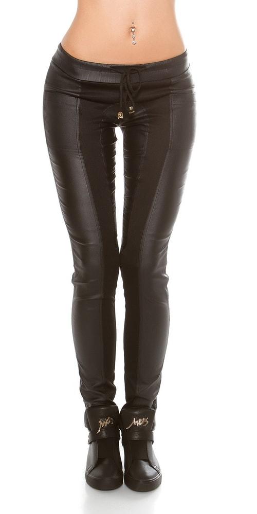 Dámske čierne nohavice - L Koucla in-ka1047bl