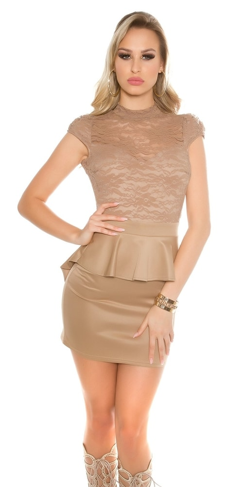 899923891b21 Dámske šaty s peplum - Koucla - Večerné šaty a koktejlové šaty - vasa ...